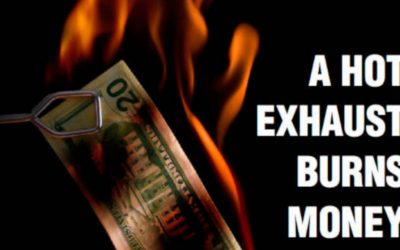 Does exhaust burn money?